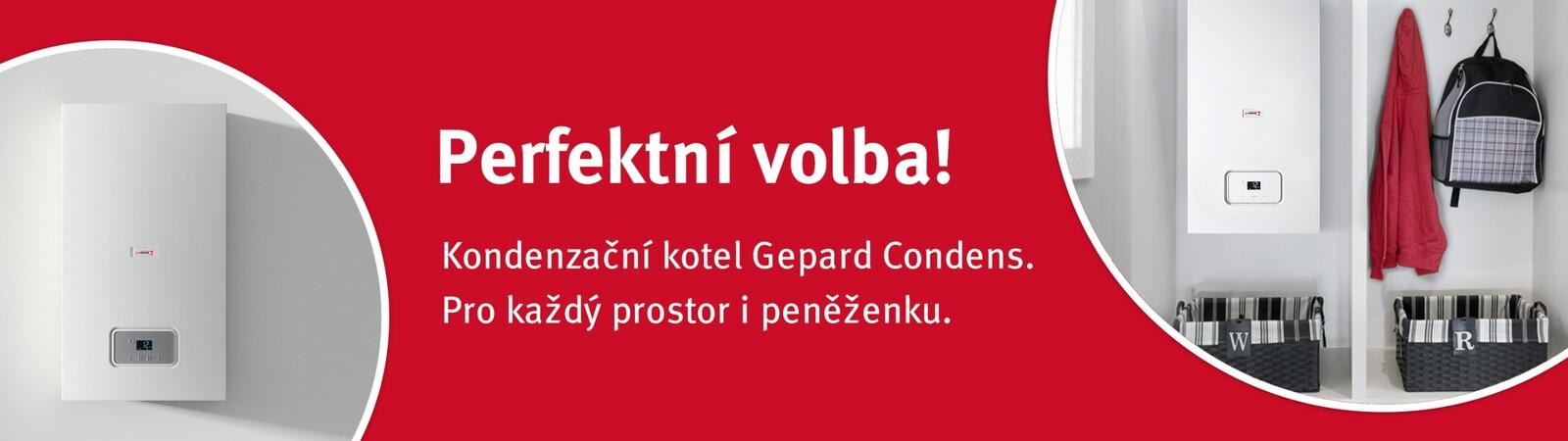 Kondenzační kotel Gepard Condens do každé domácnosti.