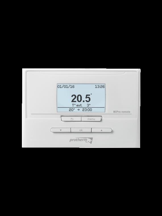 MiPro Remote - dálkové ovládání pro další topný okruh (po rozšíření pomocí modulů RED-3 nebo RED-5, první okruh je vždy řízen přímo z hlavní regulace MiPro